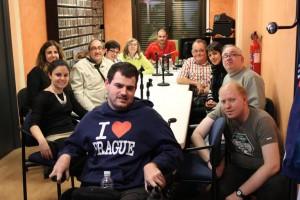 Foto de grupo del equipo de radio Nuestra Voz Áncora